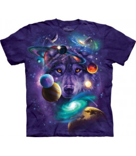 Tee-Shirt Loup Wolf Of The Cosmos
