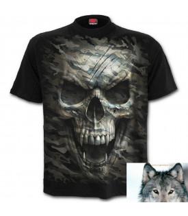 T-shirt Biker Tête de mort Military