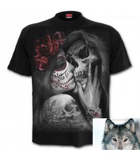 Tee shirt Biker Skull Faucheuse Lady