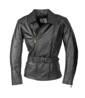 Veste Moto Cuir Longue Noir Femme