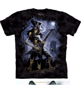 T-shirt Guitariste Hard Rock Skull