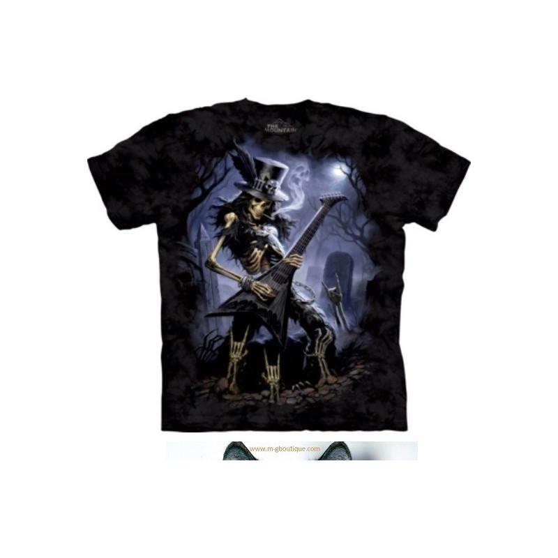 T-shirt Guitariste Hard Rock Skull