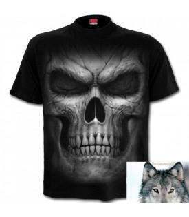 Tee Shirt Biker Tête De Mort Shadow Master
