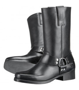 Bottes Western Cuir Noir Moto