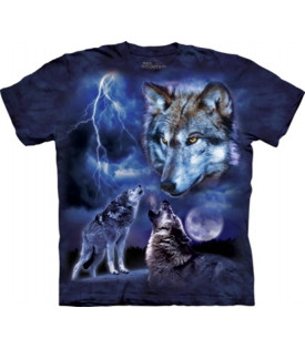 Tee-Shirt Loup Wolves Of The Storn