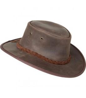 Chapeau Cuir Marron Pliable Australien