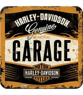 Sous Verre Harley Davidson Garage