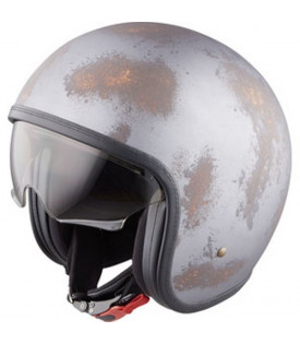 Casque Jet Retro 68 II Titane Orange