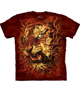 T-Shirt Tigre Fire Tiger