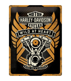 Plaque H-D Wild At Heart