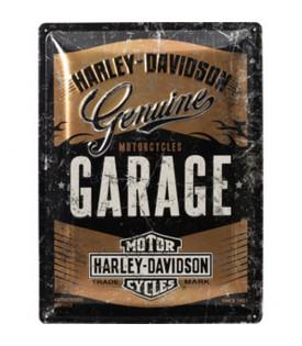 Plaque en métal Harley-Davidson Garage