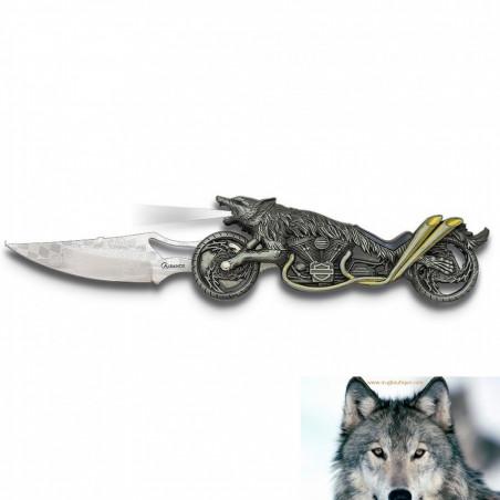 Couteau Lampe Loup Biker.
