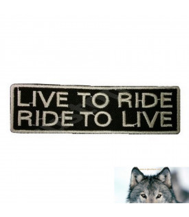 Patch écusson Biker Live To Ride Ride To Live