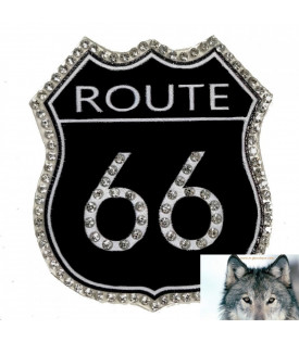Patch écusson Lady Rider Route 66 Strass.