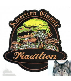 Patch Ecusson American Classic Aigle Moto Tradition