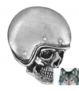 Pin's Biker Skull Casqué