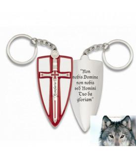 Porte-clés Biker Croix Templier