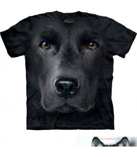 T-shirt Labrador Noir.