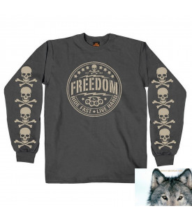 Tee Shirt Manches Longues Sweat Freedom