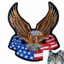 Patch Aigle Drapeaux USA
