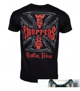 West Coast Choppers T-Shirt Web Cross