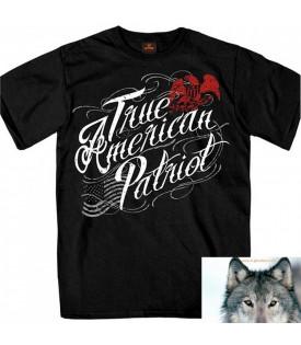 T-shirt Aigle Biker Vrai Patriote Américain
