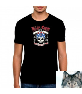 T-Shirt Billy Eight Crane Casque Drapeau USA
