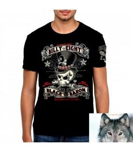 T-Shirt Billy Eight Crane Baron Noir.
