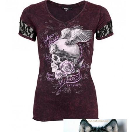T-shirt Crane Ailé