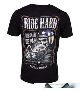 T-shirt Ride Smart Die Old
