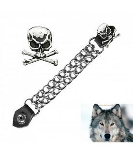 Chaine Extension Gilet Tête De Mort Skull Bones