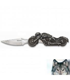 Couteau Lampe Squelette Biker