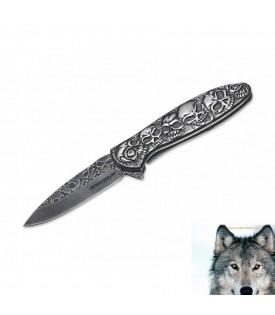 Couteau Skull Tête De Mort Biker
