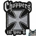 Patch Biker Croix De Malte Choppers
