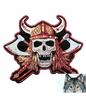 Patch Viking Biker Tête de Mort Skull