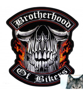 Patch Brotherhood Biker Tête de Mort