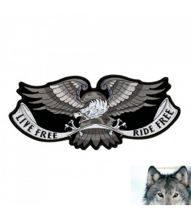 Patch Aigle Live Free Ride Free