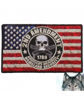 Drapeau Américain Skull 2nd Amendment