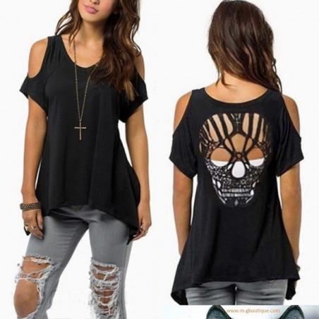 T-Shirt Femme Crane Mexicain