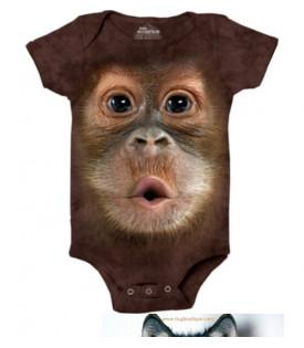 Body Bébé Gros Visage Bébé Orang-outan
