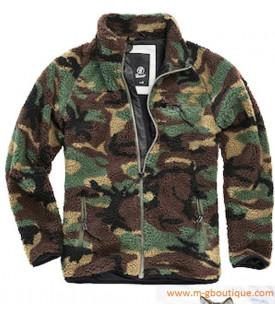 Veste Camouflage Polaire Peluche
