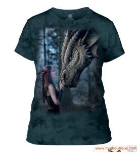T-shirt Femme Dame Dragon