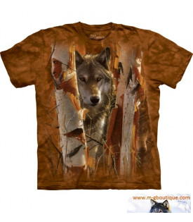 Tee-Shirt Loup Dans Foret