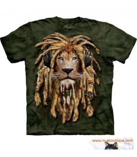 Tee-shirt Lion DJ Rasta Reggae