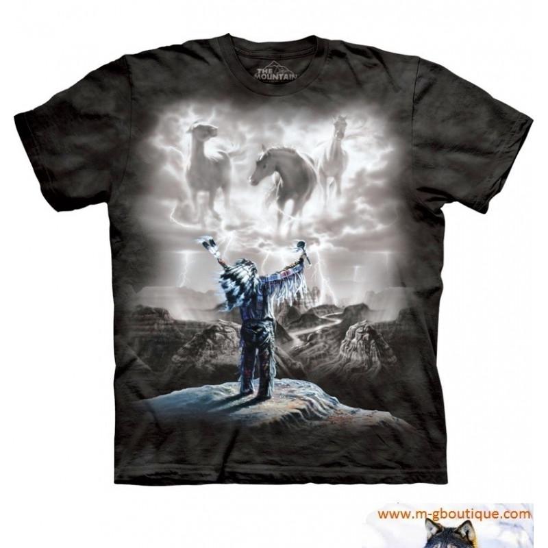 T-shirt Indien Invocation La Tempête