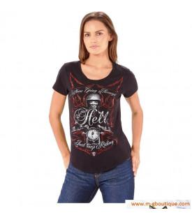 T-Shirt Femme Moto