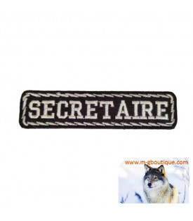 PATCH ÉCUSSON BIKER SECRETAIRE