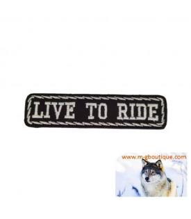"""PATCH ÉCUSSON BIKER """" LIVE TO RIDE"""""""
