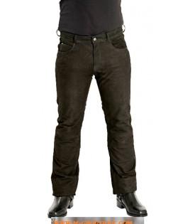 Pantalon Cuir Noir.