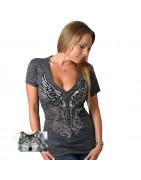 Tee-Shirt Biker Femme